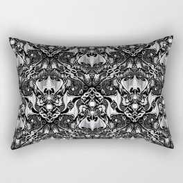 Bats And Beasts - Black and White Rectangular Pillow