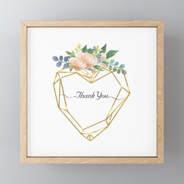 Graphic Heart and Flowers Framed Mini Art Print