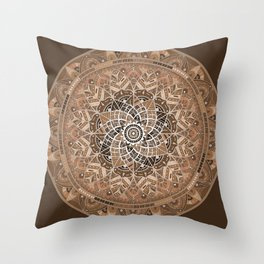 Terra Mandala Throw Pillow
