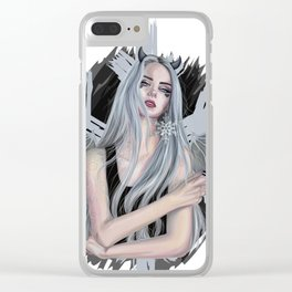 Modern Ice Queen Clear iPhone Case