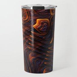 Lava Flow Abstract Travel Mug