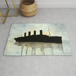 Titanic watercolour Rug