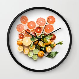 happy citrus #society6 #decor #buyart Wall Clock
