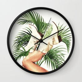 These Boots - Palm Leaves Wall Clock