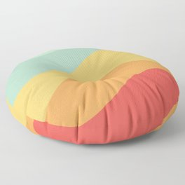 Abstract Color Waves - Bright Rainbow Floor Pillow