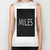 miles davis Biker Tanks featuring miles by Luigi Colarullo