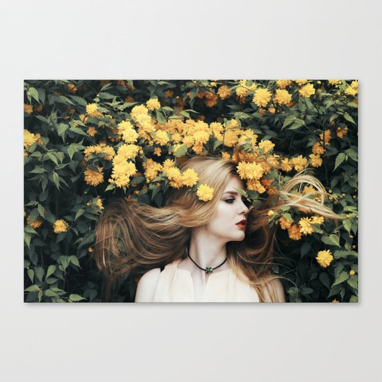 Floral girl Canvas Print