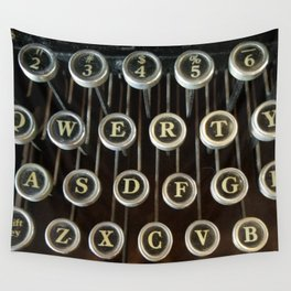 'Qwerty' Typewriter Keys Photo Wall Tapestry