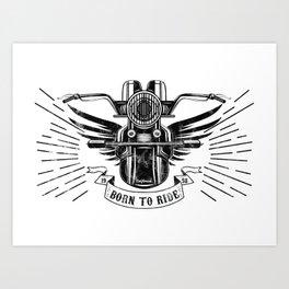Old School Motorcycle Art Print