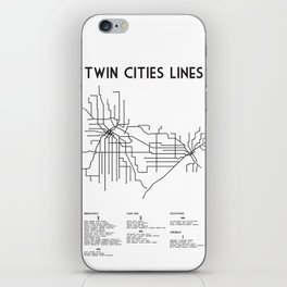 Twin Cities Lines Map iPhone Skin