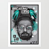 breaking bad Art Prints featuring Breaking Bad by Sophie Bland