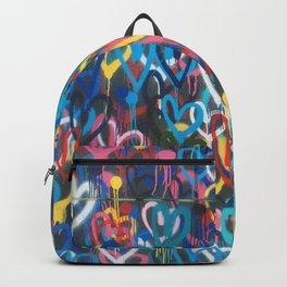 Love Hearts Abstract Graffiti Street Art Backpack