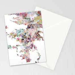 Noumea map Stationery Cards