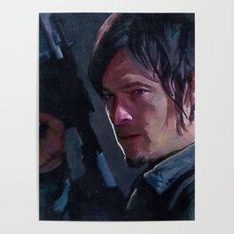 Daryl Dixon Night Watch - The Walking Dead Poster