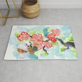 Floral Spring Feelings Watercolor Rug