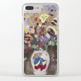 Odilon Redon - Flowers In Japanese Vase  1905. Clear iPhone Case