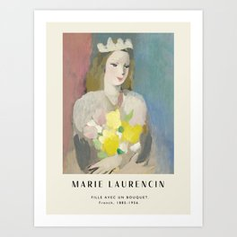 Poster-Marie Laurencin-Fille avec un bouqet. Art Print
