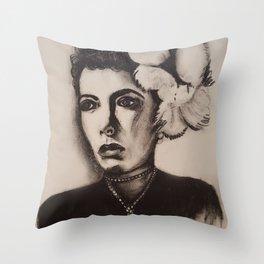 1940's Woman Throw Pillow