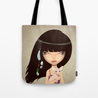 boho Tote Bags featuring boho by Anne  Martwijit