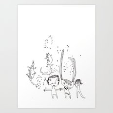 Water Kids Art Print