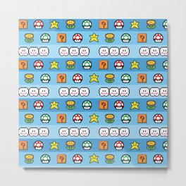 Pixel retro game Metal Print