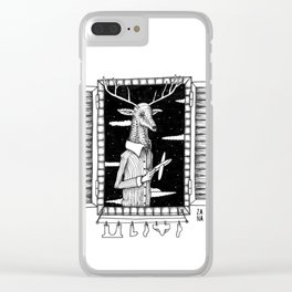 Daddy is working Clear iPhone Case