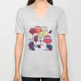 Wine and Grapes v2 Unisex V-Neck
