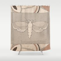 moth Shower Curtains featuring Moth by louiseharding