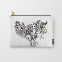 Zentangle Illustration - Peace Dove  Carry-All Pouch