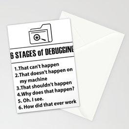 Code programmers Nerd Bug Developer gifts Stationery Cards