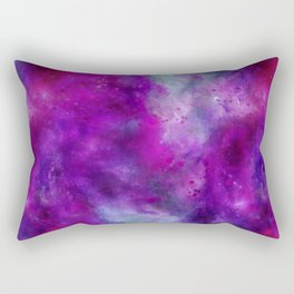 Purple Pink Blue Watercolor Rectangular Pillow