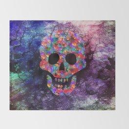 Happy skull Throw Blanket