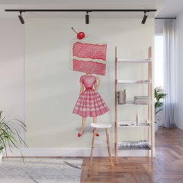 Cake Head Pin-Up - Cherry Wall Mural