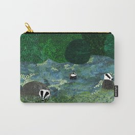 Badgers Amongst the Bluebells (evening) Carry-All Pouch