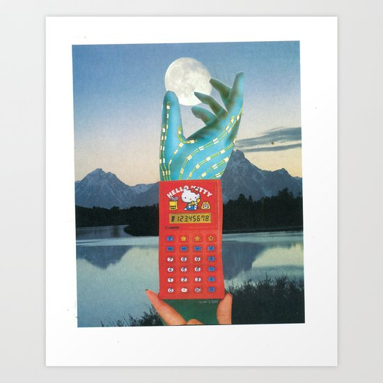 hello-sailor-kitty-moon Art Print