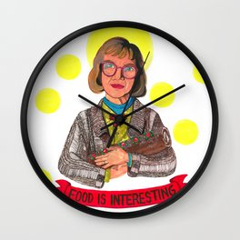 Yule Log Lady and Child Wall Clock