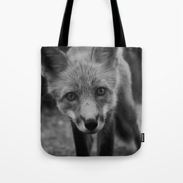 The Fox (Black and White) Tote Bag