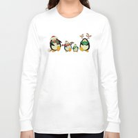cartoons Long Sleeve T-shirts featuring Penguin family  by mangulica