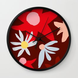 Fall flowers Wall Clock