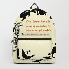 Love of the Animals Typography Backpack