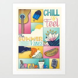 Summer Vibes Art Print