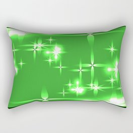 Vector light green shining background with light stars. For registration of paper or banners. Rectangular Pillow