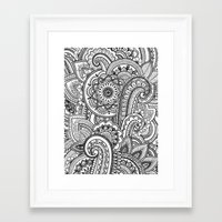 paisley Framed Art Prints featuring Paisley by Emma Lin