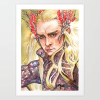 thranduil Art Prints featuring Thranduil by Giulia Colombo
