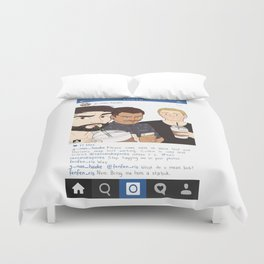 Insta Post Duvet Cover