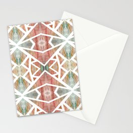 Abstract Watercolor Tile Stationery Cards