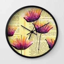 Purpling Away Wall Clock