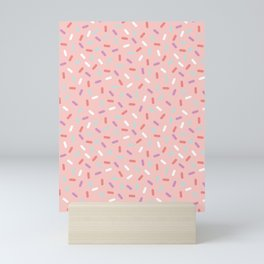 Pink Sprinkle Confetti Pattern Mini Art Print