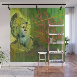 Roman Bust and Mountain (Old Wise Eyes) Wall Mural