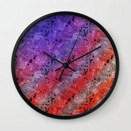 Tattoo Pattern Classic Americana Wall Clock